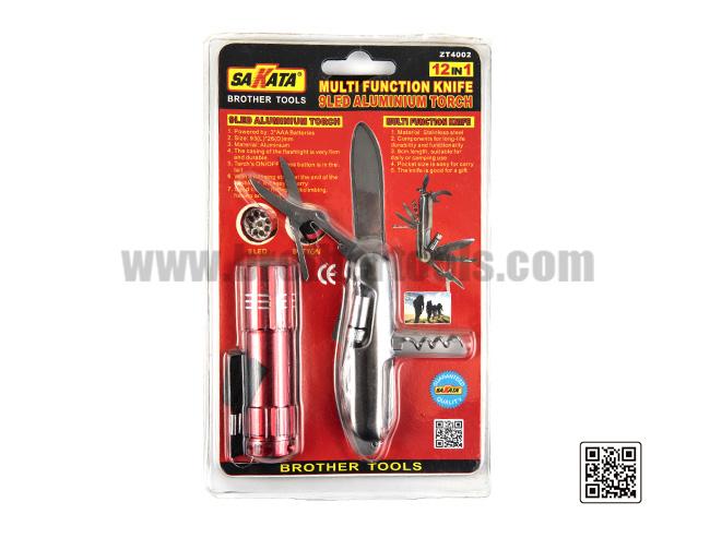 MULTI FUNCTION KNIFE  9LED ALUMONINOMTORCH