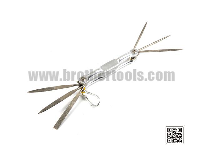 Multifunctional steel needle file set tool