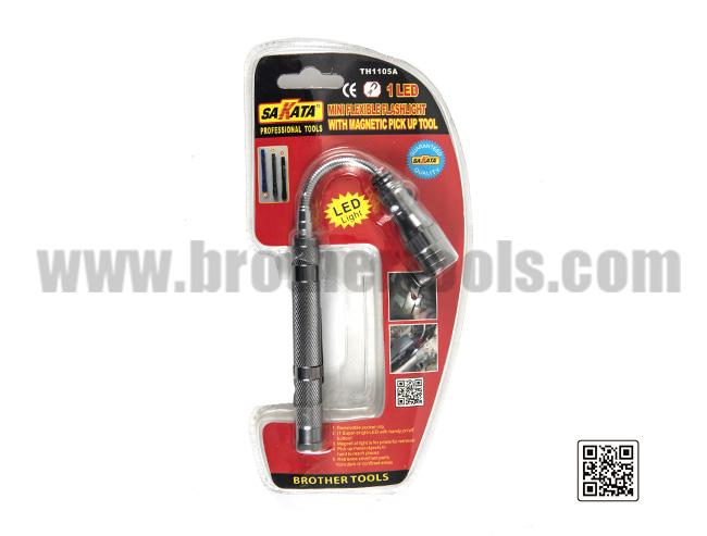 MINI FLEXIBLE FLASHLIGHT  WITH MAGNETIC  PICK UP TOOL