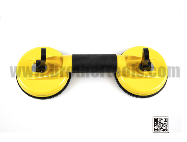 Double claw vacuum rubber glass sucker for tile ceramic installation tools