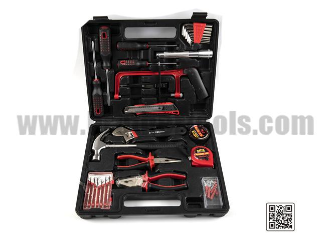 Plastic toolbox combination repair tool kit
